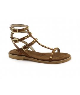 VSI LARIA Damenschuhe Sandalen Sklaven Nieten Riemen Schnalle vegane Schuhe Made in Italy
