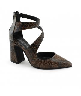 VSI LIRI Women's Shoes Woven decollet zip toe heel vegan shoes Made in Italy