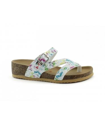 VEGAN BIO Giglio Scarpe sandali Donna zeppe infradito fantasia fibbia vegan shoes
