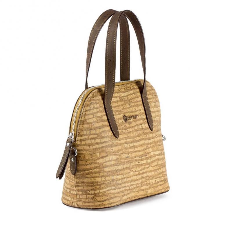 ae1be6631c CORKOR Woman handbag cork adjustable shoulder strap waterproof vegan zip.  Previous. Next