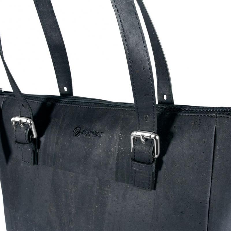 437a58dad9 CORKOR Shoulder bag Woman waterproof cork adjustable strap vegan zip.  Previous. Next