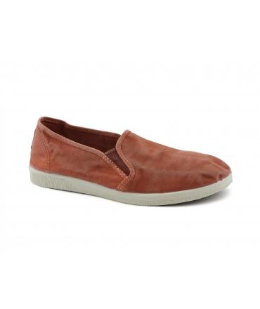 NATURAL WORLD Schuhe Woman Slip on Elastische Baumwolle Abnehmbare Bio-Fußbett Vegan Schuhe