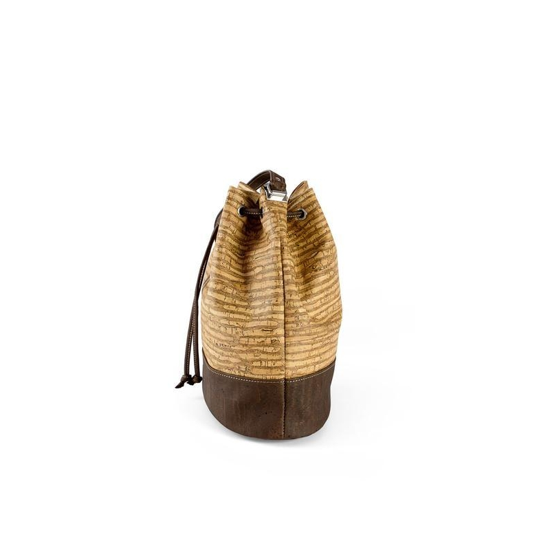 3bb86868ae CORKOR Women s waterproof bucket bag cork shoulder strap closure vegan  strings. Previous. Next