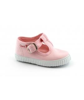 CIENTA rosa scarpe Bambina Bebè bottone finta fibbia