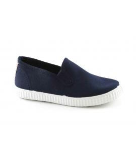 CIENTA blu scarpe Bambino elastici tessuto slip on