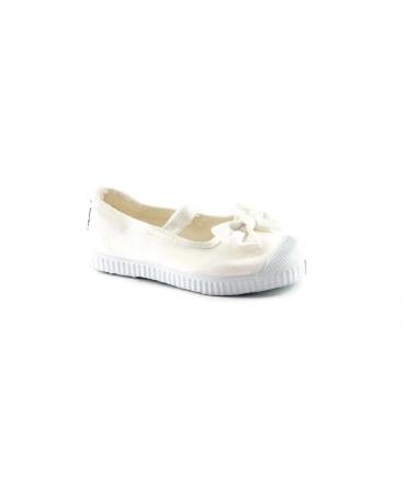 CIENTA bianco scarpe Bambina ballerine elastico tessuto fiocco
