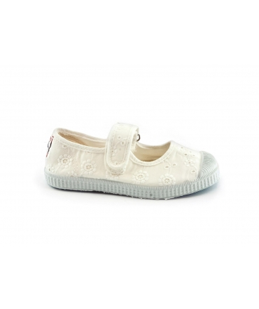CIENTA 76998 bianco scarpe Bambina ballerine strappo tessuto profumate