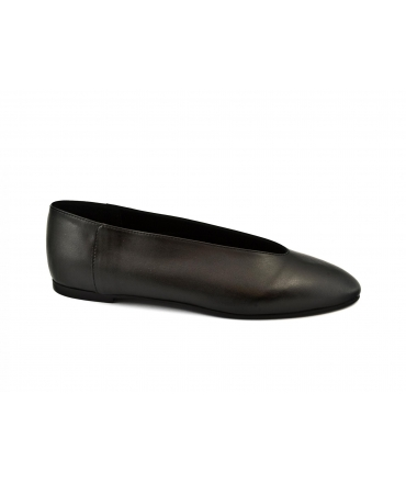 SCOTTI Balletta Ballerine in Microfibra Forma a V Suola in Tunit Made in Italy