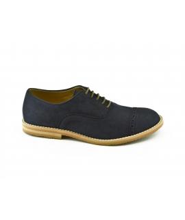 FERA LIBENS Zapato Oxford Mujer Cordones de gamuza en microfibra Vibram Sole Made in Italy