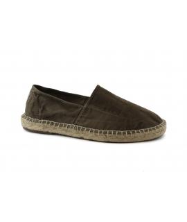 Chaussures NATURAL WORLD Man Espadrlles Slip on Coton Bio semelles plantaires végétaliennes amovibles