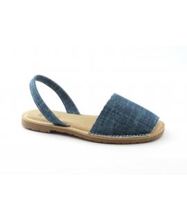 RIA scarpe donna cotone bio jeans minorchine sottopiede imbottito vegan shoes