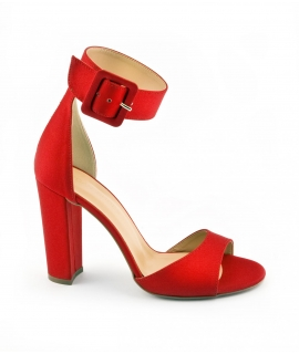 VSI Sandali Donna tessuto tacco cinturino fibbia vegan shoes Made in Italy