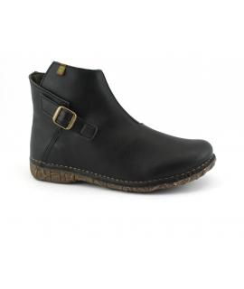 EL NATURALIST 5460T ANGKOR Schuhe Frau Stiefelette Reißverschluss Schnalle vegane Schuhe