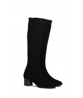 RAPISARDI MILA KNEE M802 Damenschuhe Stiefel Ferse Zip Stoffeffekt Nubuk vegane Schuhe