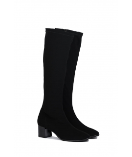 RAPISARDI MILA KNEE M802 Women's Shoes Boot heel zip fabric effect Nubuck vegan shoes