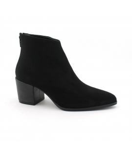 Botines VSI de mujer Botines de microfibra con zapatos de tacón veganos con efecto Nubuck con cremallera Made in Italy