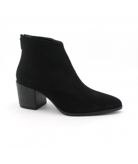 VSI Women's Shoes Microfibre ankle boots with Nubuck effect zip vegan heel shoes Made in Italy