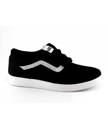 VANS CHAPMAN LITE A38J3ISJ black nero scarpe bambino sneakers light tessuto