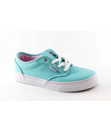 VANS ATWOOD 4AAF8N azzurro scarpe ragazza sneakers tessuto lacci