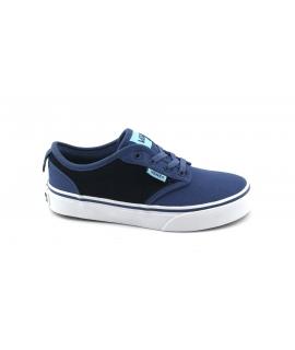 VANS ATWOOD slip-on A38IXR7R blu scarpe unisex sneakers ragazzo tessuto