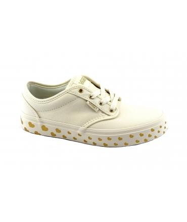 VANS ATWOOD ZUSQ5F gold beige scarpe sneakers bambina tessuto lacci
