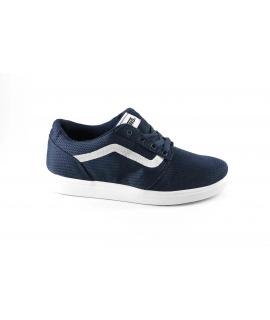 VANS CHAPMAN LITE A38J3LOK blu scarpe bambino sneakers light tessuto