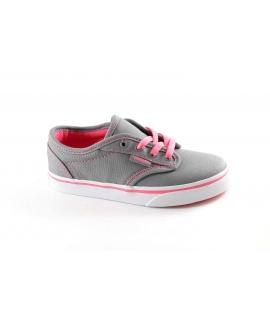 VANS MILTON SEGATP grey pink scarpe bambina ragazza sneakers tessuto