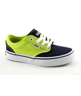 VANS ATWOOD 3Z9IMK blu bicolor lime scarpe unisex sneakers tessuto lacci