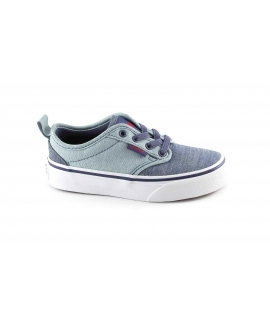 VANS ATWOOD SLIP-ON 4LMMI9 blu scarpe unisex sneakers ragazzo slipon tessuto