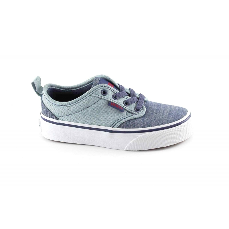 c163dd5d5d VANS ATWOOD SLIP-ON 4LMMI9 blue shoes unisex sneakers boy slipon fabric.  Tap to expand