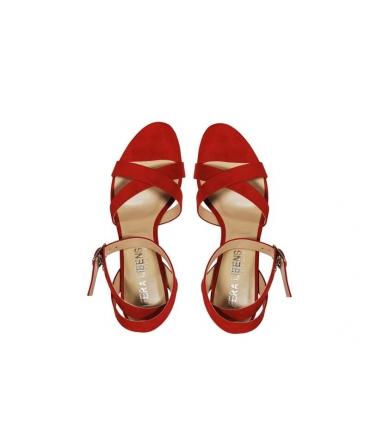 FERA LIBENS Calliope Damenschuhe Mikrofaser Suede Heel Sandaletten Made in Italy