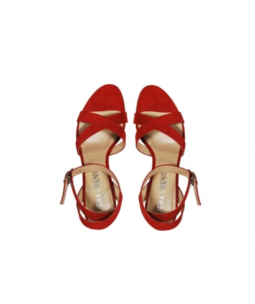 FERA LIBENS Calzado de mujer Calliope Sandalias de tacón de ante microfibra Made in Italy
