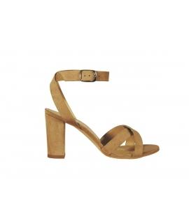 FERA LIBENS Calliope Chaussures femme Sandales à talons en daim microfibre Fabriquées en Italie