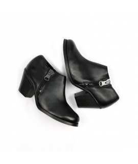 WILL'S Luxe Chaussures à Talons Chaussures Femmes Biopolioli Zip Talon Imperméable Vegan Chaussures
