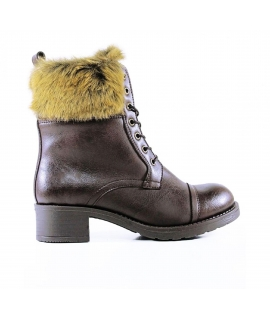 WILL'S Botas de aviador Zapatos Mujer botines Biopolioli pelo zapatos veganos impermeables