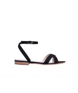 FERA LIBENS Clio Zapatos de mujer Sandalias de microfibra de gamuza Made in Italy