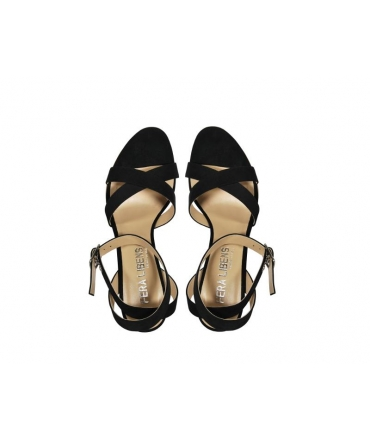FERA LIBENS Calliope Women's Shoes Microfibre Suede Heel Sandals Made in Italy