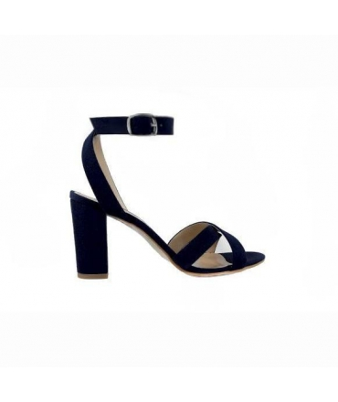 FERA LIBENS Calliope Women's Shoes Alcantara Heel Sandals Made in Italy