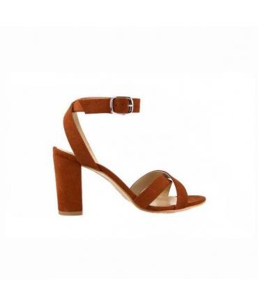 FERA LIBENS Calliope Damen Schuh Alcantara Heel Sandals Made in Italy