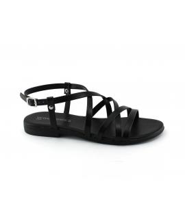VSI SILE Chaussures pour femmes Sandales bandes croisées à boucle avec boucles végétaliennes Fabriqué en Italie
