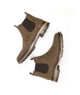 WILL'S Continental Chelsea Boots shoes Woman elastic beatles waterproof vegan shoes