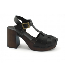 VSI KOS Damenschuhe Sandalen Clogs Fersenriemen Flechten vegane Schuhe Made in Italy