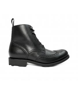 WILL'S BLACK Collection Brogue Boots scarpe Uomo scarponcini lacci impermeabili scarpe vegane