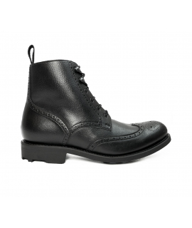 WILL'S BLACK Collection Brogue Boots shoes Man shoes laces waterproof vegan shoes