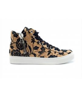 NAE Milan Cork Schuhe Frau Sneakers Mid Laces wasserdichte vegane Schuhe mit Reißverschluss