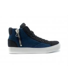 NAE Milan Chaussures de baskets unisexes mi-lacets avec fermeture à glissière