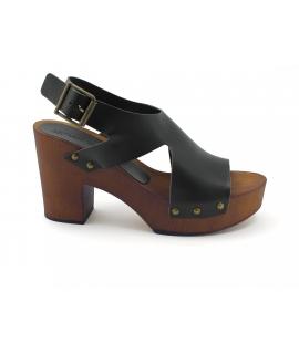 Zapatos de mujer VSI ELBA Sandalias Zuecos Zapatos veganos con correa en el talón Hecho en Italia
