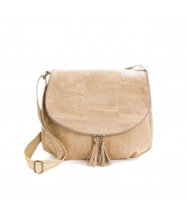 ARTELUSA Woman Bag, bandoulière réglable en liège avec fermeture magnétique et fermeture à glissière végétalienne