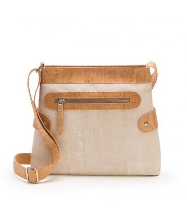 ARTELUSA Woman shoulder bag cork adjustable shoulder strap waterproof vegan zip closure