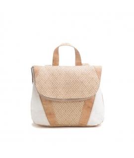 ARTELUSA Women's cork backpack adjustable straps raffia waterproof vegan zip closure